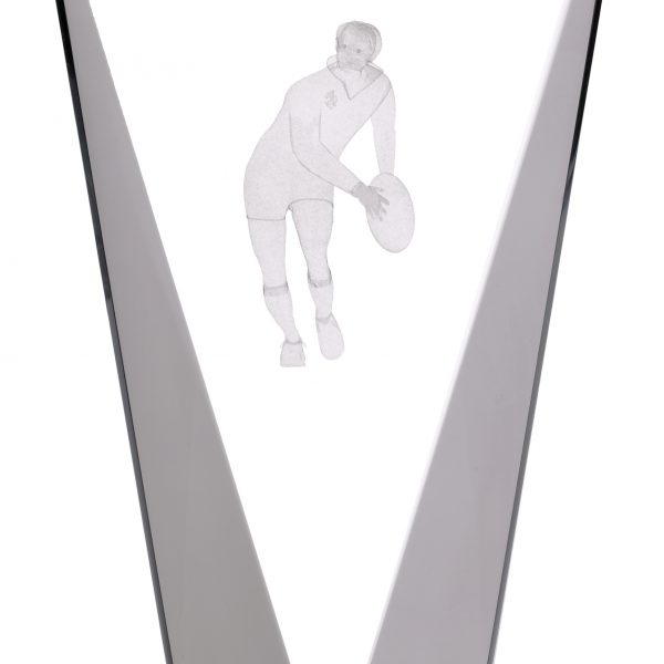 "8"" PINNACLE RUGBY GLASS AWARD"