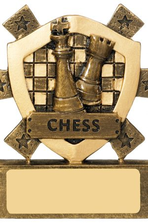 "3 1/8""CHESS MINI SHIELD"