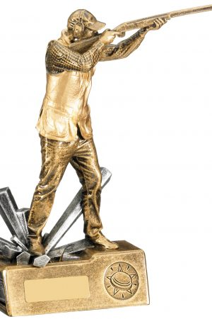 "8.5"" MALE CLAY SHOOTING TROPHY"